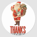 Bad Santa Rob Your House Round Stickers