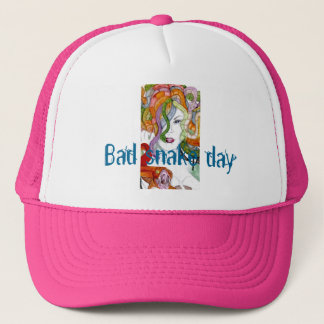Bad snake day medusa ladies cap