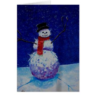 Bad Snowman card