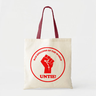 Bad spellers of the world unite seal tote bag