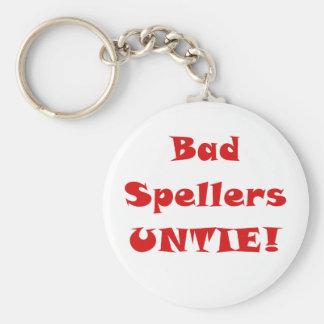 Bad Spellers Untie Keychain