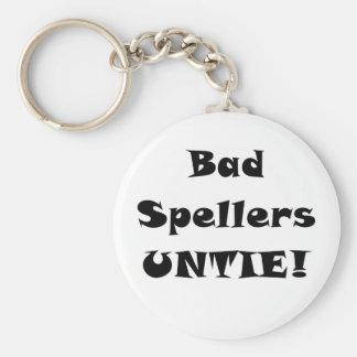 Bad Spellers Untie Key Chain