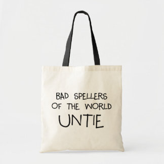 Bad Spellers Untie Tote Bag