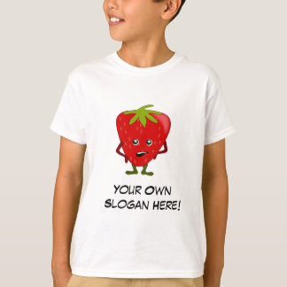 Bad Strawberry with Customizable Slogan T-Shirt