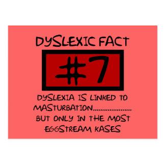 Bad taste dyslexic joke postcard