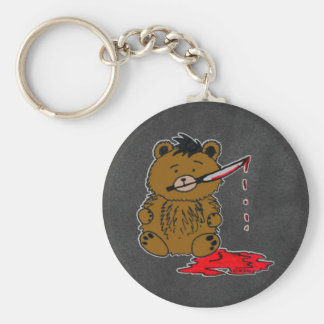 Bad Teddy Keychain
