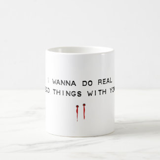 bad things basic white mug
