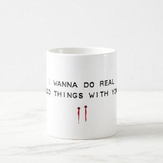 bad things classic white coffee mug