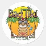 Bad Tiki Brewing Company Round Sticker