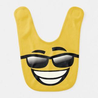 Bad to the Bone cool guy Emoji Baby Bibs