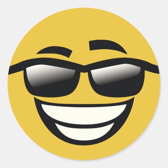 bad to the bone cool guy emoji classic round sticker zazzle co uk