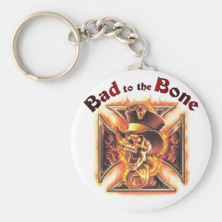 Bad to the bone keychains