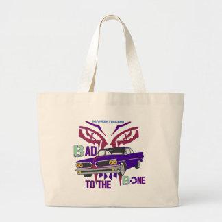 bad to the bone large tote bag