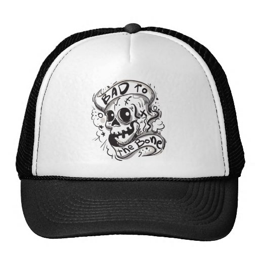 bad to the bone.png hat