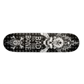 Bad to the Bone Skull Skate Board Decks