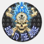 Bad to the Bone Skull Stickers
