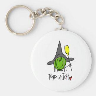 Bad Witch Basic Round Button Key Ring