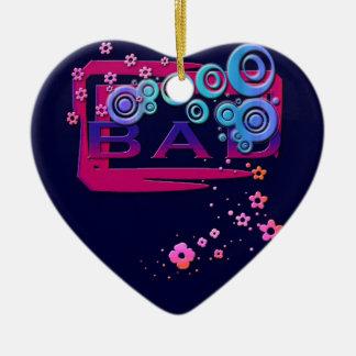 Bad Word Ceramic Heart Decoration