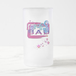 Bad Word Frosted Glass Mug