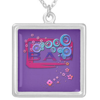 Bad Word Square Pendant Necklace