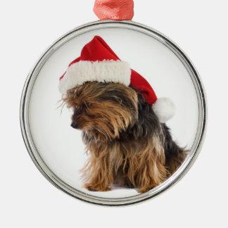 Bad Yorkie Christmas Ornament