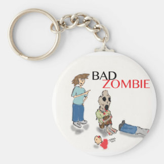 Bad Zombie Basic Round Button Key Ring