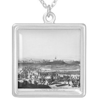 Badajos During Siege of  engraved Charles Silver Plated Necklace