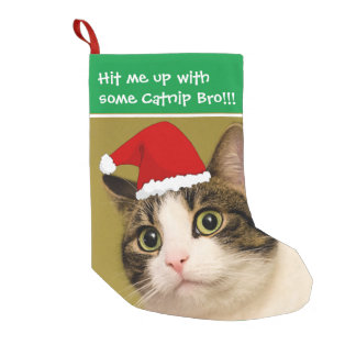 "Badass Cats - ""Catnip"" Small Christmas Stocking"
