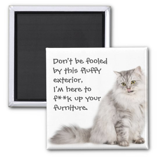 Badass Cats Square Magnet