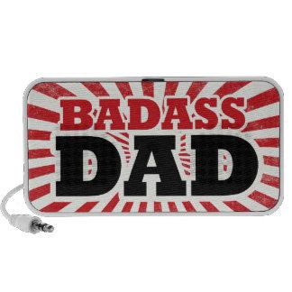 Badass Dad Fathers Day Notebook Speaker