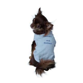 Badass dog cloth sleeveless dog shirt