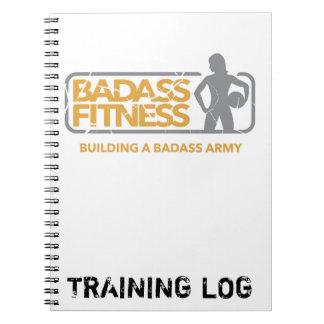 Badass Fitness Training Log/Food Diary Spiral Notebook