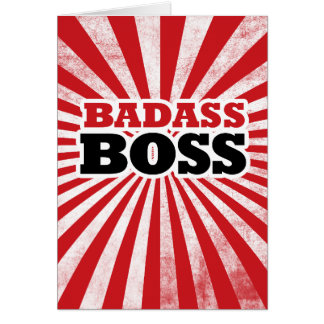 Badass Funny Boss Card