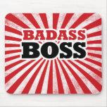 Badass Funny Boss Mousemats