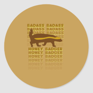 Badass Honey Badger Classic Round Sticker