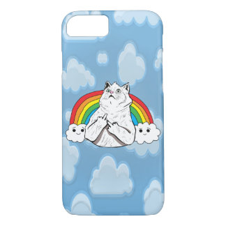 Badass Rainbow Cat in the Clouds iPhone 8/7 Case