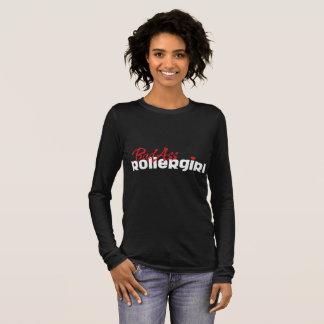 BadAss Roller Girl, Roller Derby, Skating Long Sleeve T-Shirt