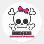 Badass Sailor's Girl Classic Round Sticker