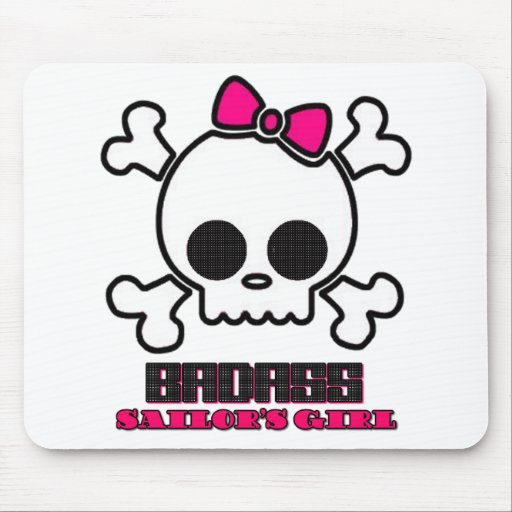 Badass Sailor's Girl Mouse Pad