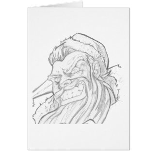 Badass Santa Claus with an evil smile Card