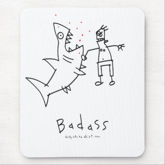Badass Shark Punch Mouse Mat