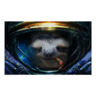 Badass sloth poster