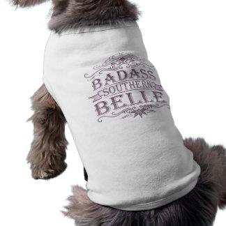 Badass Southern Bell (Banner) Sleeveless Dog Shirt