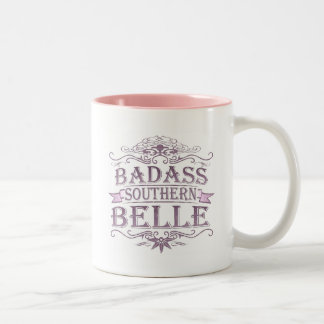 Badass Southern Bell (Banner) Two-Tone Mug