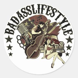 BadAss stings Round Sticker
