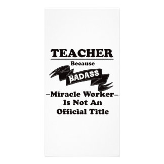 Badass Teacher Photo Card Template