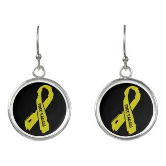 Badass/ torn ribbon...Endometriosis Earrings