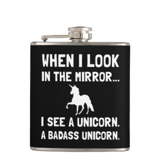Badass Unicorn Hip Flask