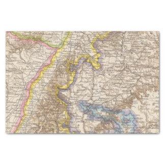 Baden Germany Atlas Map Tissue Paper