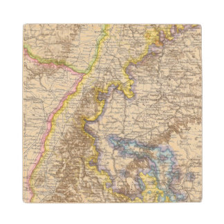 Baden Germany Atlas Map Wood Coaster